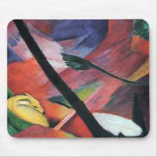 Deer in the Forest II by Franz Marc; Reh im Walde Mouse Pad