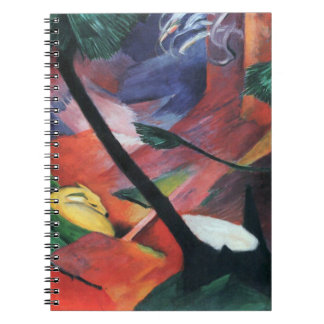 Deer in the Forest II by Franz Marc; Reh im Walde Spiral Note Book