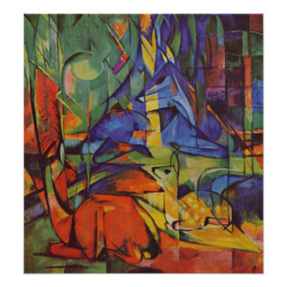 Deer in the Forest II by Franz Marc, Vintage Art Posters