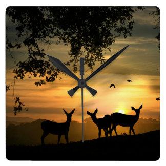Deer in the Forrest Clock