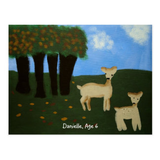Deer In The Meadow Postcard