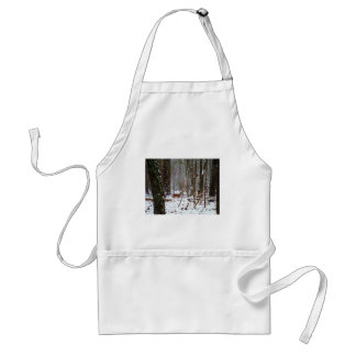 Deer in the snow fall adult apron
