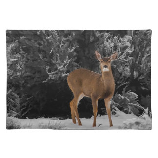 DEER IN THE SNOW PLACE MAT