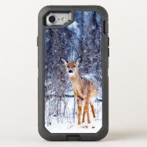Deer in the Snow, winter landscape OtterBox Defender iPhone 8/7 Case