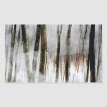 Deer in the Winter Woods Abstract Stickers