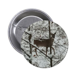 Deer in the Woods Button