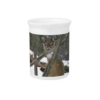 Deer In The Woods Pitcher
