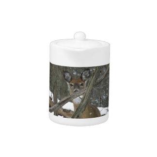 Deer In The Woods Teapot