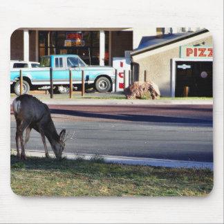 Deer In Town Mouse Pad