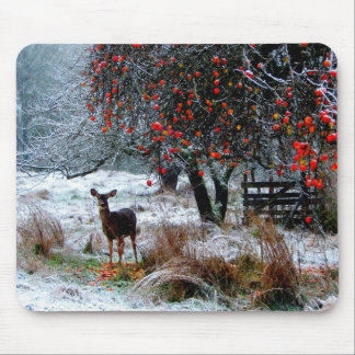 Deer in Winter Mouse Pad