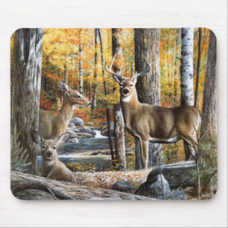Deer In Woods Mousepad