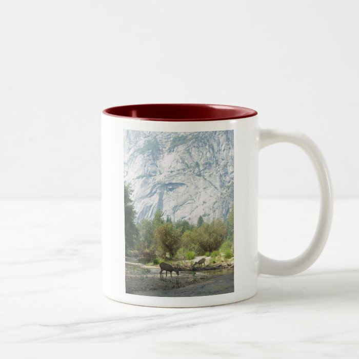 Deer in Yosemite Two-Tone Coffee Mug