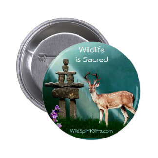 DEER & INUKSHUK Collection 2 Inch Round Button