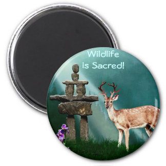 DEER & INUKSHUK Collection 2 Inch Round Magnet