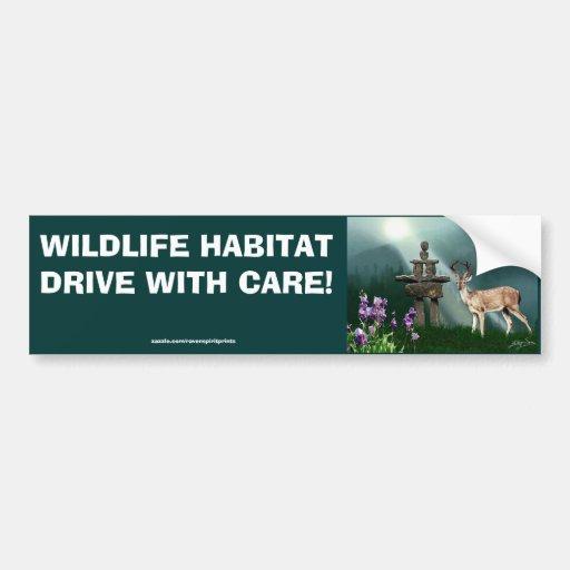 Deer & Inukshuk Wilderness Safety Bumper Sticker