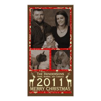 Deer it's Christmas! Holiday Christmas Photocard Photo Card