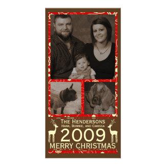 Deer it's Cristmas! Holiday Photocard Card