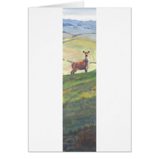 Deer Landscape Painting Greeting Card
