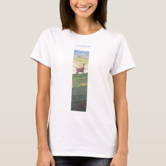 Deer Landscape Painting T-Shirt