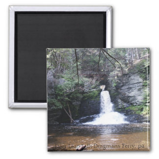 Deer Leap Falls, Childs Park, Pa, Deer Leap Fal... 2 Inch Square Magnet