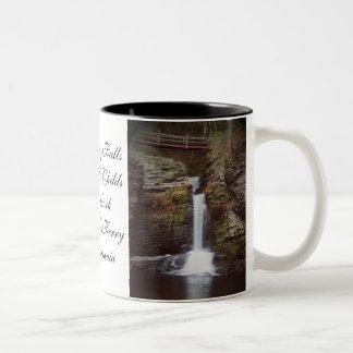 Deer Leap Falls Two-Tone Coffee Mug