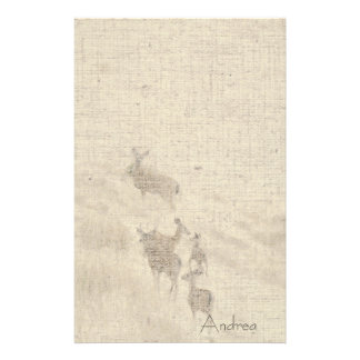 Deer Linen Stationery