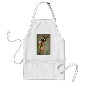 Deer looking at you apron