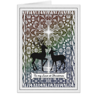 Deer Love at Christmas - Customizable Holiday Card
