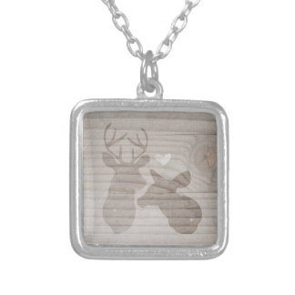 Deer Love   Couple Personalized Necklace