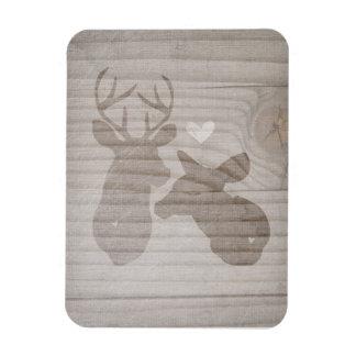 Deer Love | Couple Rectangle Magnet