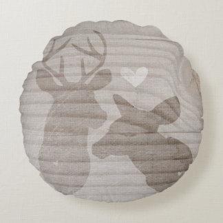 Deer Love | Couple Round Pillow