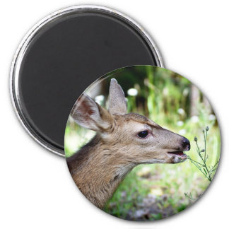 Deer 2 Inch Round Magnet