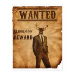 Deer Man is Wanted Postcard