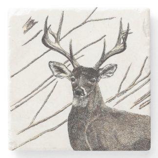 Deer Marble Stone Coaster