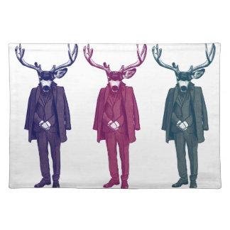 Deer Mob Illustrated Artwork Cloth Placemat