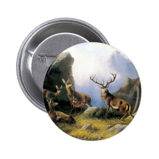 Deer mountains nature wild anomals painting pins