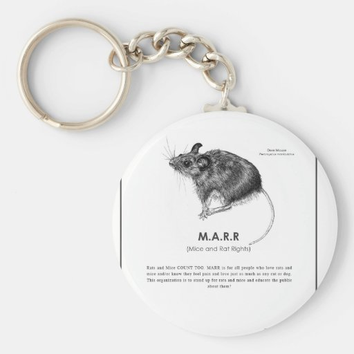 Deer Mouse Message Key Chain