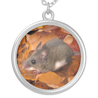 Deer Mouse Silver Plated Necklace
