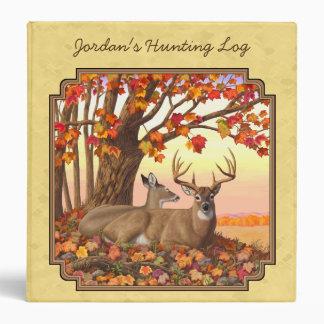 Deer New England Maple Tree Autumn Yellow Binder