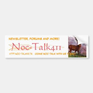 deer, noc-logo, NEWSLETTER, FORUMS AND MORE!, h... Bumper Sticker