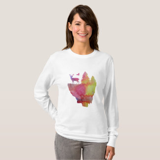 Deer on a floating island T-Shirt