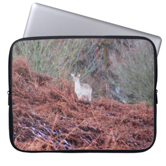 Deer on a hill laptop sleeve