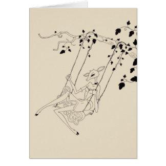 Deer on a swing cards