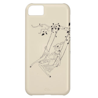 Deer on a swing - cream case for iPhone 5C