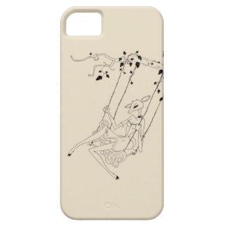 Deer on a swing - cream iPhone SE/5/5s case
