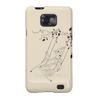 Deer on a swing - cream samsung galaxy s2 cover