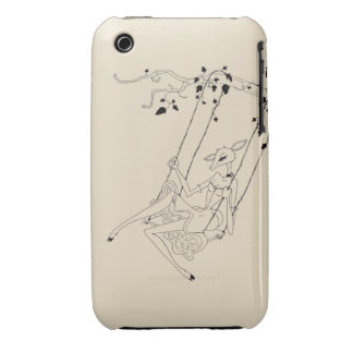 Deer on a swing iPhone 3 Case-Mate case