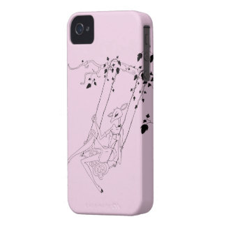 Deer on a swing iPhone 4 Case-Mate cases