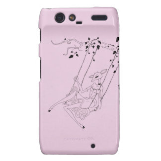 Deer on a swing - pink droid RAZR cover