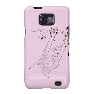 Deer on a swing - pink galaxy s2 covers